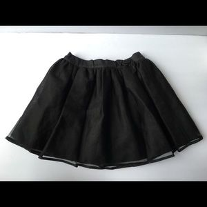 Janie and Jack tulle skirt black size 6